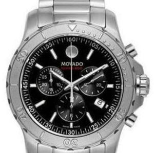 Mens Movado Chronograph Stainless steel band